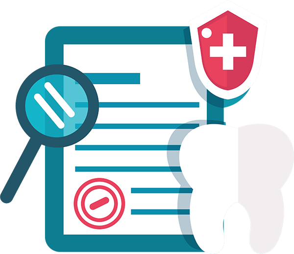 illustration of a medical bill and a tooth